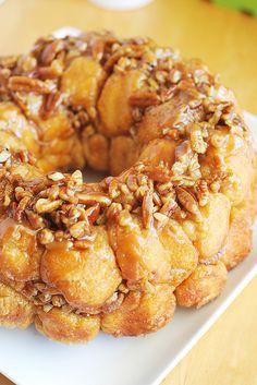 Caramel Pecan Monkey Bread - the most delicious breakfast!