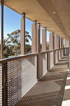 Architect: KieranTimberlake Location: UCSD, San Diego, CA The project is up for Platinum LEED certification. Facade Design, House Design, Metal Facade, Hospital Design, Social Housing, Inspiration Design, Balcony Design, Building Facade, Patio Roof