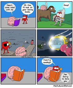 "The Awkward Yeti (@theawkwardyeti) on Instagram: ""Heart tries reading"""