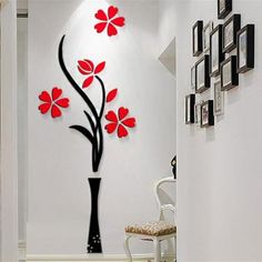 Home wall painting wall paint stickers wall art designs wall stickers designs new beautiful design red . home wall painting Wall Sticker Design, Wall Decor Design, Wall Art Designs, Mural Wall Art, Art Wall Kids, 3d Wall, Wall Decal, Nursery Wall Decor, Wall Art Decor