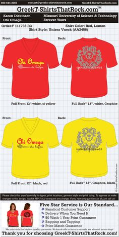 Chi Omega Forever Yours  http://www.greekt-shirtsthatrock.com/ Ahh! These are our shirts! Karen made it on Pinterest! Haha