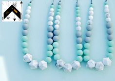 A personal favorite from my Etsy shop https://www.etsy.com/ca/listing/228580232/teething-necklace-set-of-3-baby-shower