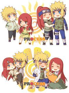 Minato And Baby Naruto | Tags: Anime, NARUTO, Uzumaki Naruto, Uzumaki Kushina, Namikaze Minato