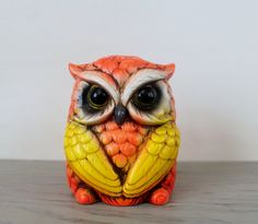Vintage Ceramic Owl Bank - Ceramaster Little Owl Collectible Bank - Angry Bird Kitschy Owl Decor by Suite22 on Etsy