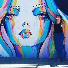 In love with Bondi Beach! Literally feels like we're in another country!  #bondi #bondibeach #bondibeachsydney #sydney #sydneyvibes #graffiti #graffitiart #art #wallart #boho #bohostyle  #fanphoto #regram from @msradz  Art by @anyapaintface by bondibeachgraffitiwall http://ift.tt/1KBxVYg
