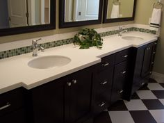 Old World Stone Imports  Simple and Sweet Bathroom Counter.  www.OldWorldStoneImports.com