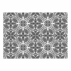 KESS InHouse Nandita Singh 'Boho in Black and White' Grey Pattern Dog Place Mat, 13' x 18' ** Check this awesome image  : Dog food container