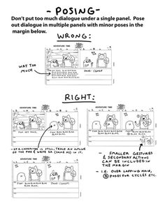 "kingofooo: "" by storyboard supervisor Erik Fountain A few years ago, Erik put together these updated AT storyboard guidelines for new board artists and revisionists. "" These are excellent notes for tv boarding. Animation Storyboard, Storyboard Artist, Animation Reference, Drawing Reference, Storyboard Drawing, Comic Tutorial, Comic Layout, Animation Tutorial, How To Make Comics"