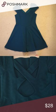 Free People Dress with Back Detail Beautiful teal free people dress with a pretty back detail. Feel free to use the offer button or ask any other questions! Free People Dresses Mini