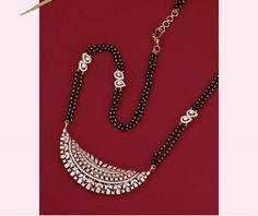 Mangalsutra Bracelet, Diamond Mangalsutra, Gold Mangalsutra Designs, Jewelry Design Earrings, Emerald Jewelry, Gold Jewelry, American Diamond Jewellery, Jewellery Sketches, Indian Jewelry