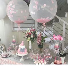 Decoracion en Rosa Bridal Shower Decorations, Balloon Decorations, Wedding Decorations, Baby Shower Gender Reveal, Baby Shower Themes, Balloon Basket, Twin Birthday, Girl Shower, Holidays And Events