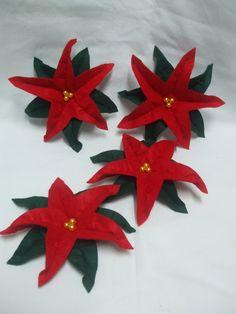Flores de Natal em feltro - handmade