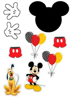 Mickey E Minnie Mouse, Mickey Mouse Parties, Baby Mickey, Mickey Party, Imprimibles Mickey Mouse, Sonic Party, Disney Classroom, Mouse Crafts, Felt Patterns