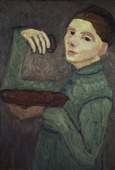 Paula Modersohn-Becker - Figurative Painting - German Expressionism - Self-Portrait