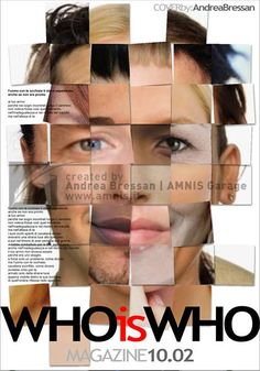 Who is Who Magazine Cover #concept #graphicdesign by Andrea Bressan - Como, Italy, 2004