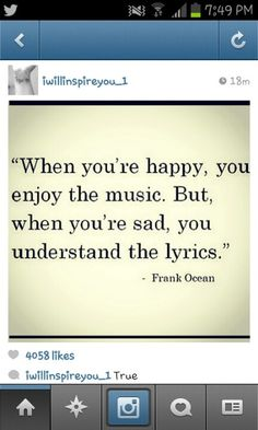 This is so true True Quotes, Words Quotes, Sayings, Qoutes, Music Is My Escape, Music Is Life, Truth Of Life, Meaningful Words, Love Words