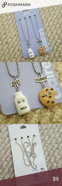 Best Friends Milk & Cookie Necklaces Best friends milk & cookie necklaces; new. Claire's Jewelry Necklaces