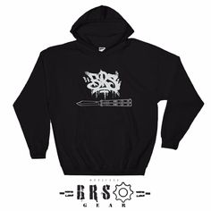 BRS Hand Style Hoodies are not officially up on our site! These feature a real custom hand style BRS logo with a graphic Replicant below.  Tag someone who needs one!  #brsgear #hoody #tshirt #gear #swag #bladerunnerssystems