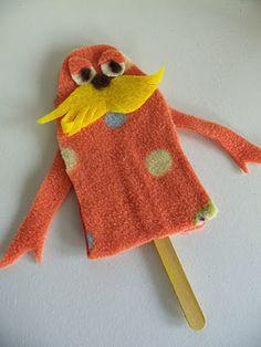 Lorax stick puppet