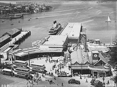 Manly Wharf  Manly wharf under construction (taken from the Hotel Manly) Dated: 1940