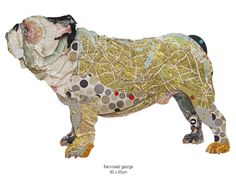 Peter Clark's innovative and often humorous paper dog collages