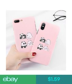 Cases, Covers & Skins For Iphone X 8 7 6S Plus Cute Panda Pattern Slim Shockproof Hard Back Case Cover #ebay #Electronics