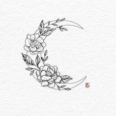 30 Best hot trendy tattoos moon design ideas for women 30 Best hot trendy tat . - 30 Best hot trendy tattoos moon design ideas for women 30 Best hot trendy tat Tatto Drawings - Mini Tattoos, Trendy Tattoos, Body Art Tattoos, Popular Tattoos, Floral Tattoo Design, Flower Tattoo Designs, Flower Tattoo Drawings, Small Tattoo Designs, Drawing Tattoos