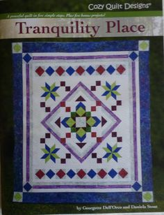 Book Tranquility Place Quilt Book,Peaceful Quilt in Five Simple Steps, Fast Shipping https://www.etsy.com/shop/suesfabricnsupplies