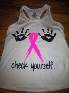 Breast Cancer Check Yourself Tank on Etsy, $19.00
