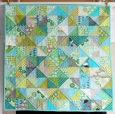 I love the half square triangles with no discernable design.  Maybe for my DS fabrics?