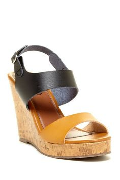 Open Toe Wedge Sandal by Carrini on @HauteLook