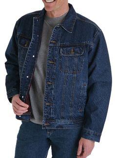 Wrangler Men's Rugged Wear Lined Denim Jacket RJ32AN