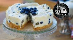White chocolate and blueberries- a brilliant combination made even more amazing in this easy summer dessert! | DonalSkehan.com