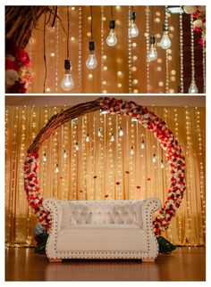 Mesmerize your guests with the charm of these engagement stage decorations ideas. Discover about the latest Engagement Stage Decoration Ideas with this post. Reception Stage Decor, Wedding Stage Backdrop, Wedding Stage Design, Wedding Mandap, Wedding Receptions, Desi Wedding Decor, Wedding Hall Decorations, Backdrop Decorations, Engagement Stage Decoration