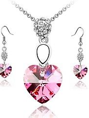 Whole+Sale+Crystal+Jewelry+Set+Elegant+Unique+Crystal+Design+Heart+Pendant+Necklace+Earrings+Ring+Girlfriend+Gift+–+USD+$+9.09