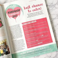 Get your entry in soon for this years @molliemakes #handmadeawards we were finalists last year and had the most amazing day! Go for it!