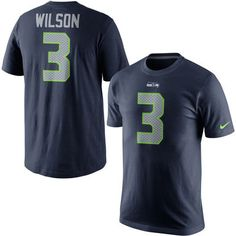 Men's Seattle Seahawks Russell Wilson Nike College Navy Player Pride Name & Number T-Shirt