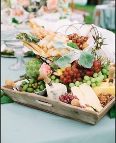 A must have.... cheese, olives and fruit platters with bread/biscuit basket to start (and maybe some sushi plates)... nibbles on the table while bridal party are off getting photos
