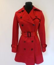 Andrew Marc red trench coat on sNOBSWAP https://snobswap.com/listings/view/9155