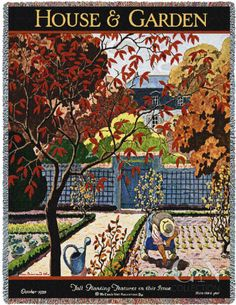 House & Garden Oct 1926 Poster Print by Pierre Brissaud at the Condé Nast Collection
