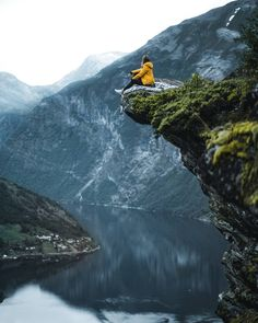 """Tap image for travel information - Exploring the mountains of Norway Travel information below Geiranger Norway. Jun-Jul for better weather and the """"midnight sun"""". for more awesome photos! # Search for similar experiences by hashtag - Girl Photography Poses, Nature Photography, Travel Photography, Adventure Aesthetic, Travel Aesthetic, Travel Pictures, Travel Photos, Norway Travel, Adventure Photography"""