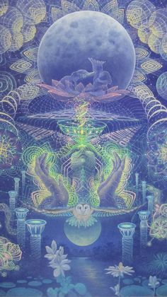 Luis-Tamani-Amasifuen full moon / Sacred Geometry <3