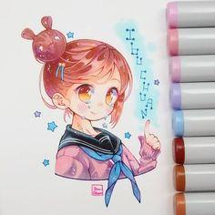 """Ibu  on Instagram: """"Holi❣❣ Este dibujo es mi ID (identidad y/o si lo prefieren, dibujarse uno mismo) Se supone que soy yo, es raro que me dibuje tan kawaii y…"""""""
