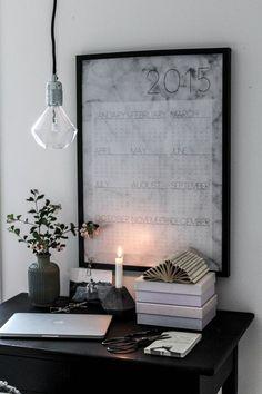 """""""MARBLEOUS YEAR"""" Calendar details here http://www.boligheter.se/butik/kontor/kreativitum-poster-marbleous-year/"""