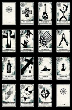 Cartas del Tarot de Lost Oo You're All Gonna Die!: LOST Tarot Cards - Geekologie http://www.geekologie.com/2010/04/youre-all-gonna-die-lost-tarot.php