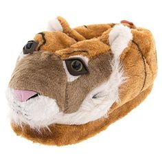 Orange Tiger Animal Slippers for Women and Men Extra Large ** Continue to the product at the image link.