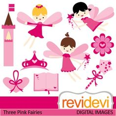 Clip art Pink Flying Fairies (fantasy, girls, magic wand, fairytale) clipart.Clipart set for teachers and educators. Great resource for any school and classroom projects such as for creating bulletin board, printable, worksheet, classroom decor, craft materials, activities and games, and for more educational and fun projects.You will receive:- Each clipart saved separately in PNG format, 300 dpi with transparent background.- Each clipart saved separately in JPG format, 300 dpi with white ...
