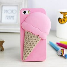 Funny Lovely iPhone 5/5S Ice Cream Case - Cute iPhone 5S Cases - iPhone 5S Cases - iPhone Cases