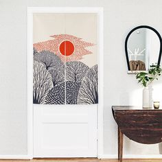 New Linen NOREN Japanese Style Door Curtain Sunset Sunrise Balloon Summer Tapestry 85x120cm/85x90cm-in Curtains from Home & Garden on Aliexpress.com | Alibaba Group