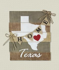 Look what I found on 'Texas' Wood Slat Wall Art - Crafts All Over Wood Slat Wall, Wood Slats, Wooden Wall Art, Wood Art, Pallet Crafts, Pallet Art, Wooden Crafts, Pallet Ideas, Diy Pallet